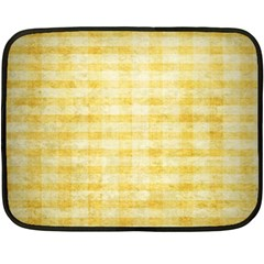 Spring Yellow Gingham Fleece Blanket (mini)