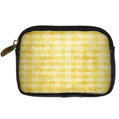 Spring Yellow Gingham Digital Camera Cases