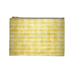 Spring Yellow Gingham Cosmetic Bag (large)