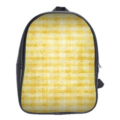 Spring Yellow Gingham School Bags(Large)