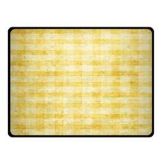 Spring Yellow Gingham Fleece Blanket (small)