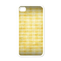 Spring Yellow Gingham Apple Iphone 4 Case (white)