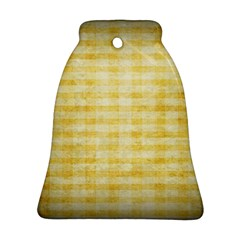 Spring Yellow Gingham Ornament (bell)