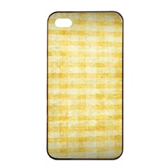 Spring Yellow Gingham Apple iPhone 4/4s Seamless Case (Black)