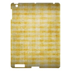 Spring Yellow Gingham Apple Ipad 3/4 Hardshell Case