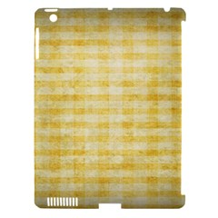 Spring Yellow Gingham Apple iPad 3/4 Hardshell Case (Compatible with Smart Cover)