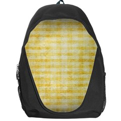 Spring Yellow Gingham Backpack Bag