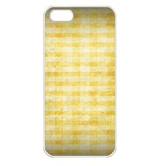 Spring Yellow Gingham Apple iPhone 5 Seamless Case (White)