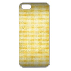 Spring Yellow Gingham Apple Seamless iPhone 5 Case (Clear)