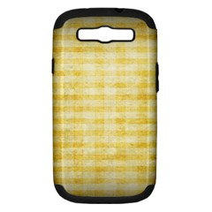 Spring Yellow Gingham Samsung Galaxy S Iii Hardshell Case (pc+silicone)