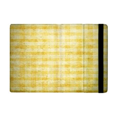 Spring Yellow Gingham Apple iPad Mini Flip Case