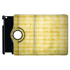 Spring Yellow Gingham Apple Ipad 3/4 Flip 360 Case