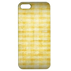 Spring Yellow Gingham Apple iPhone 5 Hardshell Case with Stand