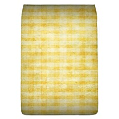 Spring Yellow Gingham Flap Covers (L)