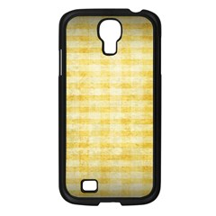 Spring Yellow Gingham Samsung Galaxy S4 I9500/ I9505 Case (Black)