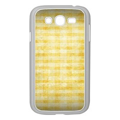 Spring Yellow Gingham Samsung Galaxy Grand Duos I9082 Case (white)