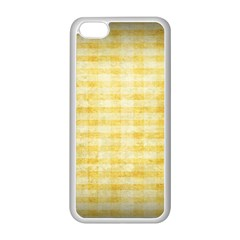 Spring Yellow Gingham Apple Iphone 5c Seamless Case (white)