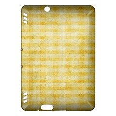Spring Yellow Gingham Kindle Fire Hdx Hardshell Case