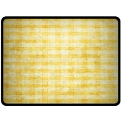 Spring Yellow Gingham Double Sided Fleece Blanket (Large)