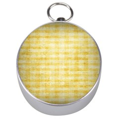 Spring Yellow Gingham Silver Compasses