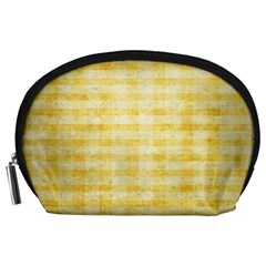 Spring Yellow Gingham Accessory Pouches (Large)