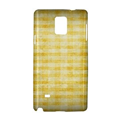 Spring Yellow Gingham Samsung Galaxy Note 4 Hardshell Case