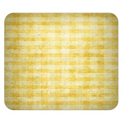 Spring Yellow Gingham Double Sided Flano Blanket (small)