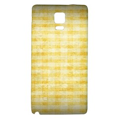 Spring Yellow Gingham Galaxy Note 4 Back Case