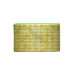 Spring Yellow Gingham Cosmetic Bag (XS)