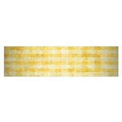 Spring Yellow Gingham Satin Scarf (Oblong)