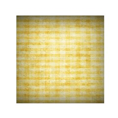 Spring Yellow Gingham Small Satin Scarf (Square)