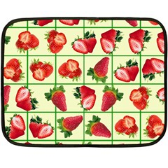 Strawberries Pattern Double Sided Fleece Blanket (Mini)