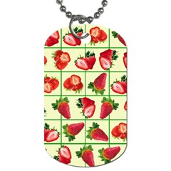 Strawberries Pattern Dog Tag (two Sides)