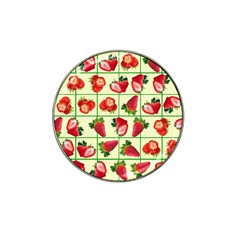 Strawberries Pattern Hat Clip Ball Marker
