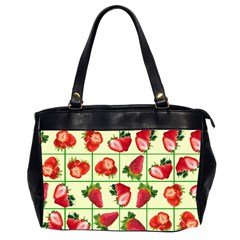Strawberries Pattern Office Handbags (2 Sides)