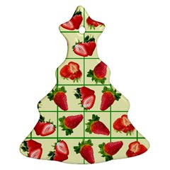 Strawberries Pattern Christmas Tree Ornament (Two Sides)