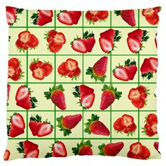 Strawberries Pattern Large Cushion Case (One Side)