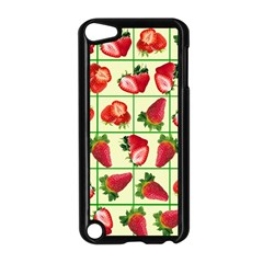 Strawberries Pattern Apple iPod Touch 5 Case (Black)