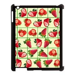 Strawberries Pattern Apple Ipad 3/4 Case (black)