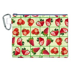 Strawberries Pattern Canvas Cosmetic Bag (XXL)