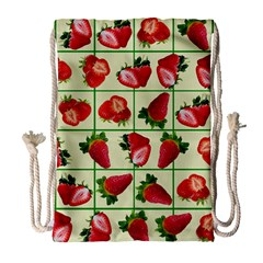 Strawberries Pattern Drawstring Bag (Large)