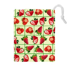 Strawberries Pattern Drawstring Pouches (Extra Large)