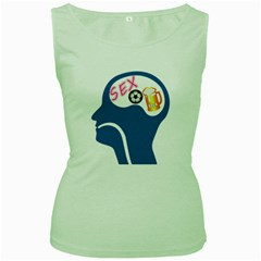 Male Psyche Women s Green Tank Top