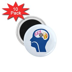 Male Psyche 1.75  Magnets (10 pack)