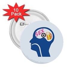 Male Psyche 2.25  Buttons (10 pack)
