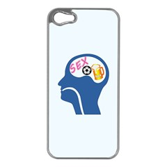 Male Psyche Apple iPhone 5 Case (Silver)