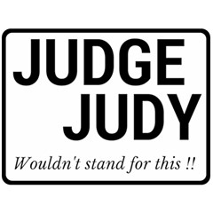 Judge Judy Wouldn t Stand For This! Fleece Blanket (large)