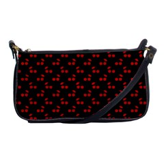 Alice Blue Quatrefoil in an English Country Garden Shoulder Clutch Bags