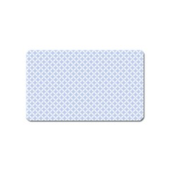 Alice Blue Quatrefoil in an English Country Garden Magnet (Name Card)