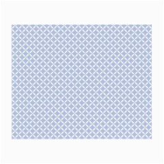 Alice Blue Quatrefoil in an English Country Garden Small Glasses Cloth